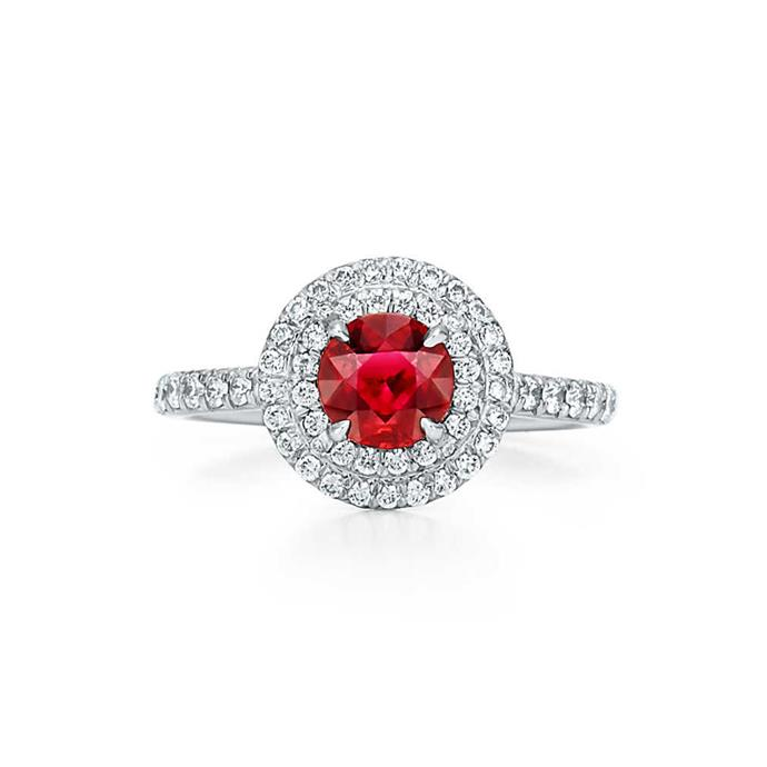"***July: Ruby***<bR><br> Soleste ruby ring, $15,200 at [Tiffany & Co.](https://www.tiffany.com.au/jewelry/rings/tiffany-soleste-ring-GRP10215/|target=""_blank""