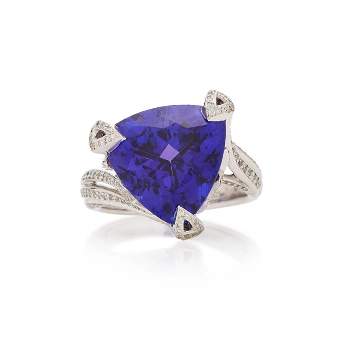 "***December: Tanzanite, Zircon or Turquoise***<br><br> Tanzanite and diamond ring, $30,415 at [Moda Operandi](https://www.modaoperandi.com/akillis-fw18/18k-gold-tanzanite-and-diamond-ring|target=""_blank""|rel=""nofollow"")."