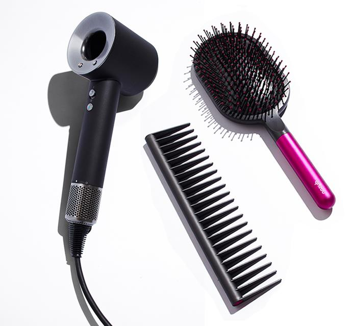 "The Dyson Supersonic hair dryer helps to safeguard strands by ensuring hair never becomes overheated. The high-tech beauty tool helps prevent extreme heat damage and protect your hair's natural shine by measuring the air temperature 20 times per second. Mum will thank you later for looking after her locks (trust us). The special edition Mother's Day gifting set also includes a detangling comb and Dyson's vented barrel brush. (We won't tell if you keep it for yourself.)  <br><br> P.S. Until 13 May, shoppers who purchase a Dyson Supersonic hair dryer (not including the Red/Nickel colourways) or a Dyson Corrale straightener will recieve complimentary gift wrapping and a bonus paddle brush. Meanwhile, those who purchase an Airwrap styler (excluding Iron/Red) recieve complimentary debossing and a paddle brush. Offers avaliable at [Dyson.com.au](https://go.skimresources.com?id=105419X1569491&xs=1&url=https%3A%2F%2Fwww.dyson.com.au%2F|target=""_blank""). <br><br> *Dyson Supersonic™ hair dryer $549 from [Adore Beauty](https://go.skimresources.com?id=105419X1569491&xs=1&url=https%3A%2F%2Fwww.adorebeauty.com.au%2Fdyson%2Fdyson-supersonic-mother-s-day-bundle.html