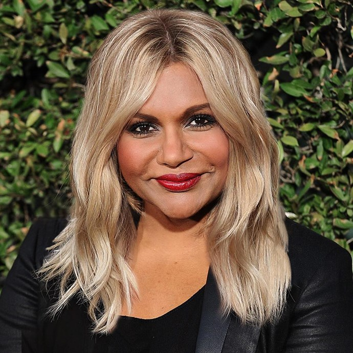 "**Mindy Kaling** <br><br> A major hair change in Hollywood is as newsworthy as a marriage (or a divorce!), and Mindy Kaling nailed it with an Instagram post showing off her faux-blonde locks, captioning it: <br><br> ""Haters will say it's photoshop… #AprilFoolsDay"" <br><br> Despite the joke, Kaling's ""Goldilocks"" look drew praise from plus size model Tess Holiday and makeup artist, Daniel Martin. <br><br> ""Such a great color on you though! Yaaaasssss 🔥❤️🙌🏼,"" Martin commented. <br><br> ""Ummmm ok do it tho,"" said Holliday. <br><br> *Via* [@mindykaling](https://www.instagram.com/p/BvuCg5Kneu_/