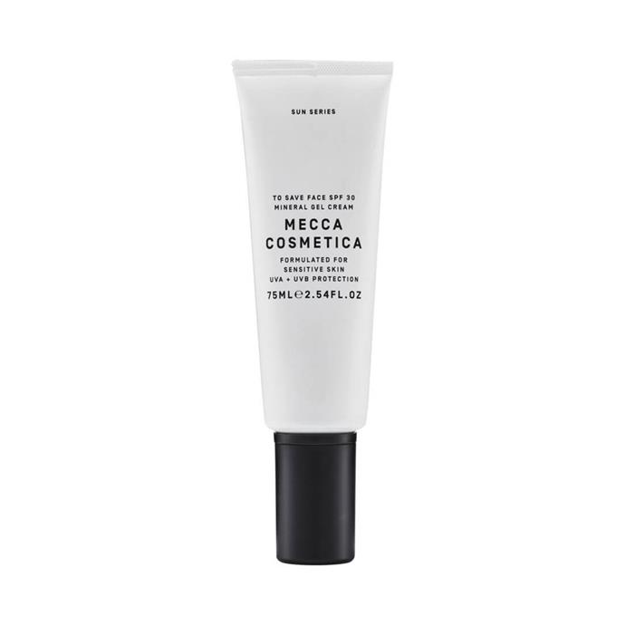 "Protecting the skin while also hydrating and nourishing might be a big ask but, MECCA's 'To Save Face' option does it all.<br><br> To Save Face SPF 30 Mineral Gel Cream by MECCA Cosmetica, $38 at [MECCA](https://www.mecca.com.au/mecca-cosmetica/to-save-face-spf-30-mineral-gel-cream/I-025803.html|target=""_blank""