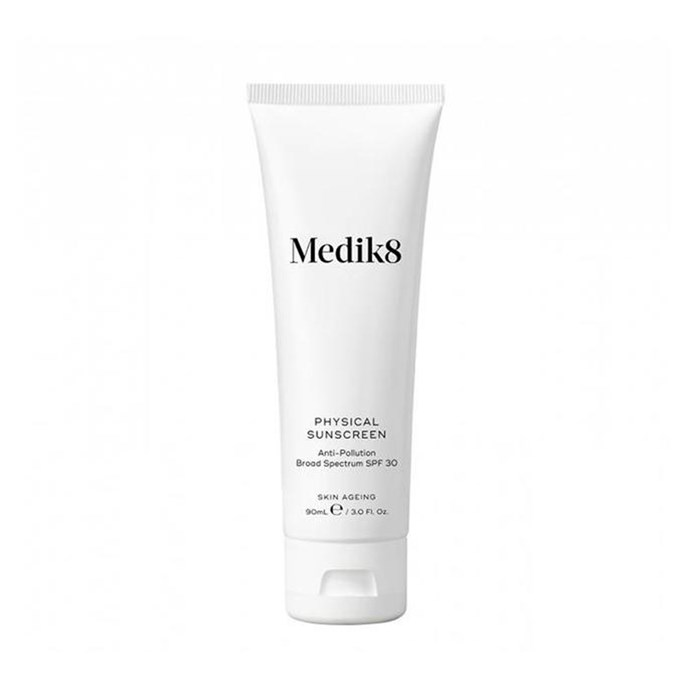 "Fragrance free and made without nanoparticles, Medik8's physical sunscreen is perfect for under makeup.<br><br> Physical sunscreen by Medik8, $78 at [Adore Beauty](https://www.adorebeauty.com.au/medik8/medik8-physical-sunscreen-90ml.html|target=""_blank""