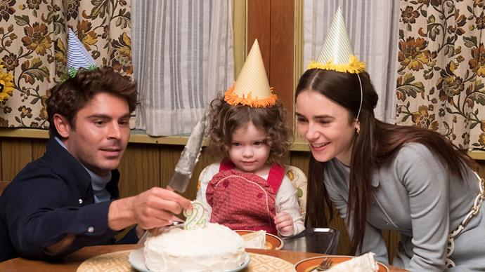 Zac Efron as Ted Bundy, with Lily Collins as Elizabeth Kloepfer.
