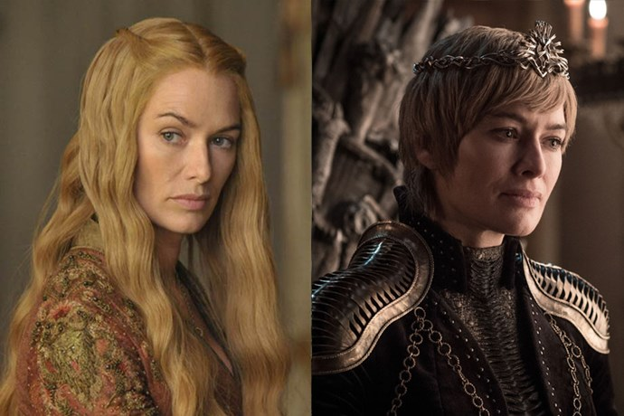 Cersei Lannister in season one, and in season eight.