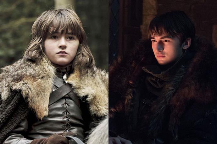 Bran Stark in season one, and in season eight.