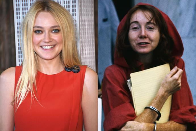 "**Dakota Fanning as Lynette ""Squeaky"" Fromme**<br><br>  Possibly one of the most famous members of the Manson Family, Squeaky Fromme was not a part of the historical murders. She did, however, a become a liaison between the family and the media during their criminal trial."