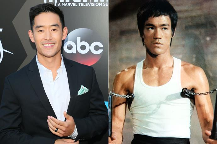 **Mike Moh as Bruce Lee**<br><br>  The most famous martial artist in popular culture, Hong Kong-American actor Bruce Lee became a huge star thanks to a slew of action films in the 1970s. Prior to that, he also worked as a stuntman and fight choreographer, designing the fight scenes for the 1968 movie *The Wrecking Crew*, which also featured Sharon Tate.