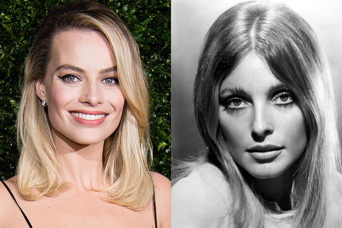 **Margot Robbie as Sharon Tate**<br><br>  Actress Sharon Tate was still a rising star when she met her untimely death in 1969. The most famous victim of the Manson Family murders, she was killed in her home along with four other people on August 9, 1969.