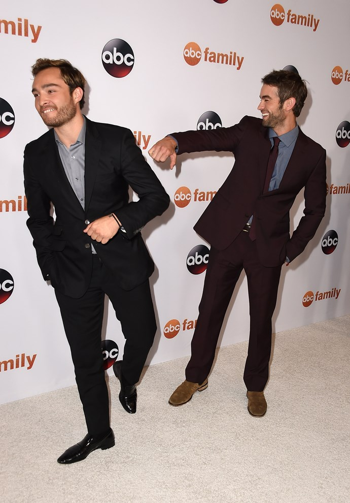 """**Chace Crawford and Ed Westwick**<br><br>  Bros on screen, bros off screen. *[Gossip Girl](https://www.elle.com.au/culture/gossip-girl-reboot-19789