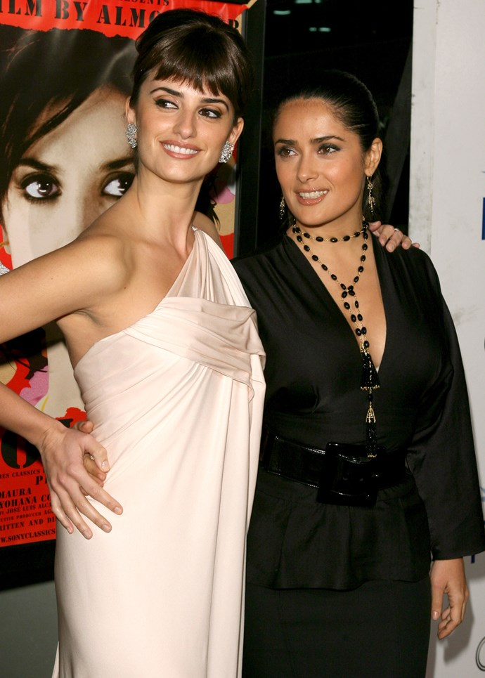 """**Penélope Cruz and Salma Hayek**<br><br>  While these two may have played a bank-robbing duo in the 2006 film *Bandidas*, they've actually been friends since 2001 and even have a funny nickname for one another, as Cruz told *[Allure](https://www.allure.com/gallery/penelope-cruz?mbid=synd_huffpoet#slide=1