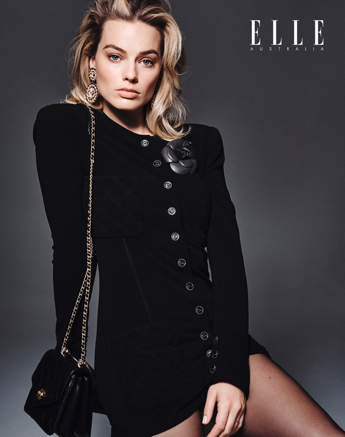 *Margot Robbie wears Chanel, photography by Liz Collins, hair by Bryce Scarlett and makeup by Pati Dubroff using Chanel.*