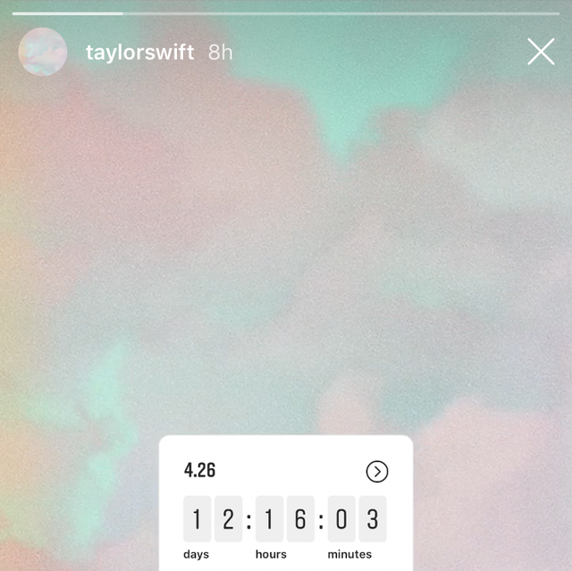 Taylor Swift Just Started A Mysterious Instagram Countdown To April