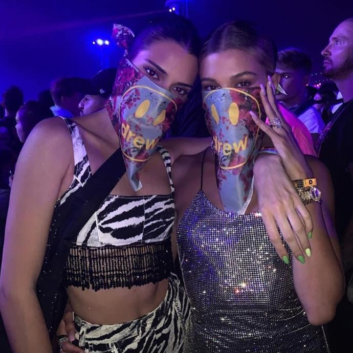 Kendall Jenner and Hailey Bieber