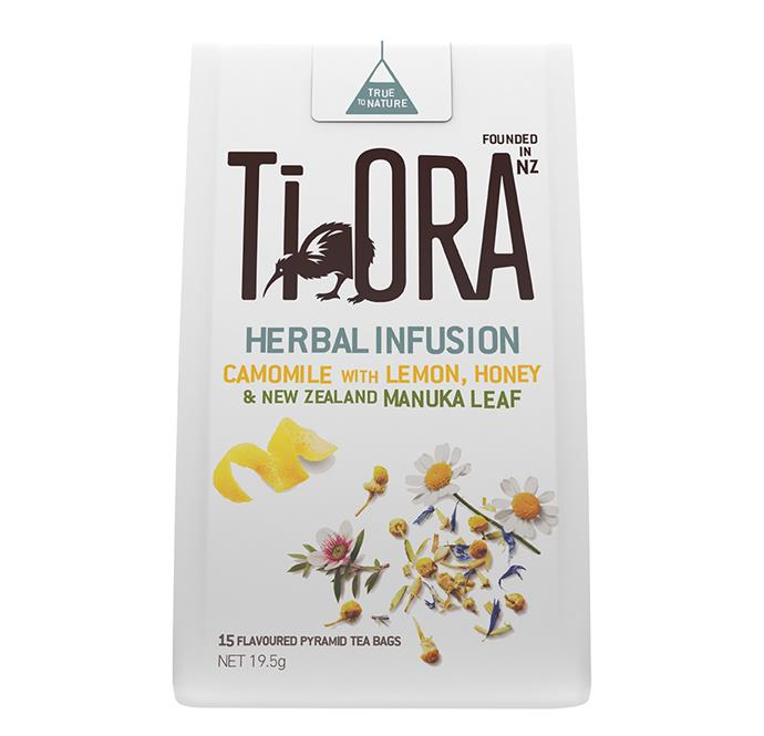 """Ti Ora Camomile Tea with Lemon, Honey and New Zealand Manuka Leaf, $6 at [Coles](https://shop.coles.com.au/a/a-nsw-metro-pagewood/product/ti-ora-herbal-infu-cmile-lemon-honey-teabags