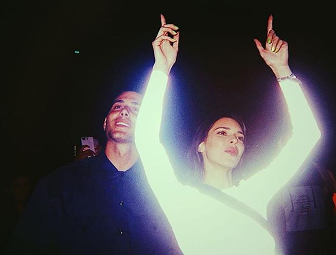 **He's been romantically linked to Kendall Jenner:** The pair has sparked dating rumours as recently as April 2019 (following their Coachella outing, pictured), but never publicly commented on them. He's actually also been linked to Kendall's older sister, Kourtney Kardashian, and Kylie Jenner's controversial former friend, Jordyn Woods, but those rumours never amounted to anything.