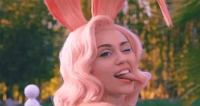 """***Miley Cyrus***<br><br> """"She has risen 🐰"""""""