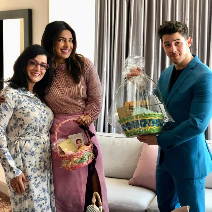 "***Priyanka Chopra***<br><br> ""Happy Easter from ours to yours.. 📸 @papakjonas 🐣 ❤️🎉."""
