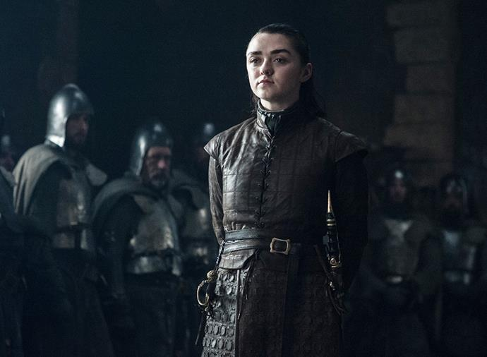 "**Arya Stark** <br><br> A controversial one, but Arya has been hinting at her own death for some time. We've already seen her [running for her life](https://www.harpersbazaar.com.au/culture/arya-stark-game-of-thrones-season-8-18239|target=""_blank"") in what appears to be the crypts of Winterfell in a season 8 trailer, and she's said plenty of times that she's seen death and she ""doesn't fear it"". Add to that the fact she asked Gendry to make her a [custom anti-White Walker weapon](https://www.harpersbazaar.com.au/culture/game-of-thrones-arya-stark-gendry-weapon-18466