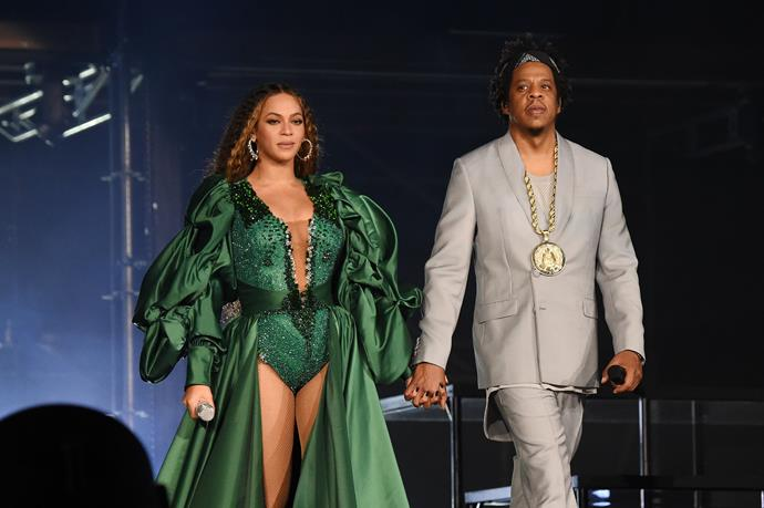"""**Beyoncé and Jay Z**<br><br>  These two are so regal, they look like they should be *on* the show. Perhaps that's why Jay Z allegedly bought Beyoncé one of Daenerys' dragon eggs from season one. In an interview with *[Harper's BAZAAR](https://www.harpersbazaar.com/culture/features/a10832/emilia-clarke-0615/