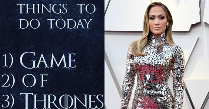 """**Jennifer Lopez**<br><br>  Jenny from the block also counts herself as a Throner, with the singer and actress having previously taken to social media to express her enthusiasm for the show.<br><br>  Prior to the season 7 premiere in 2017, Lopez shared a picture of her 'to-do list' on Instagram, with only *Game Of Thrones* on the agenda. Yep, that's our kind of list.<br><br>  *Image via [@jlo](https://www.instagram.com/p/BWn8O7clcBU/?taken-by=jlo