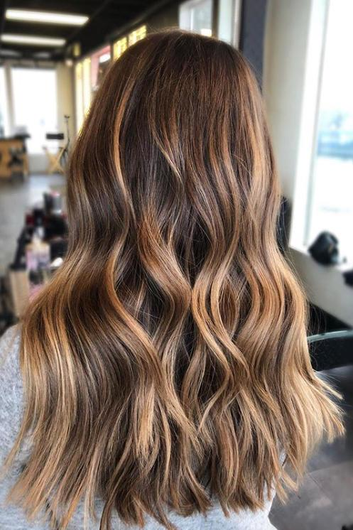 ***Cold Brew***<br><bR> Just like how coffee is lightened up with milk and ice, this trend lightens up brunette with blondes, golden-reds and lighter chocolate shades to give flat brunettes some life.