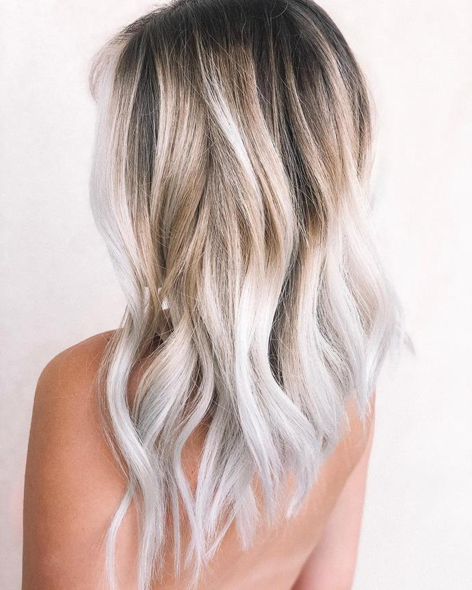 ***Toasted Coconut*** <br><br> Traditional ombre is all about softness—gently transitioning the hair from one colour to another. But if you don't mind a little contrast, 'Toasted Coconut' (yum) hair might be for you. This trend starts with a deep brunette or blonde at the roots which then moves into a bright blonde at the ends of the hair.<br><br> The end effect is not unlike the toasted coconut chips you find in your smoothie bowls.