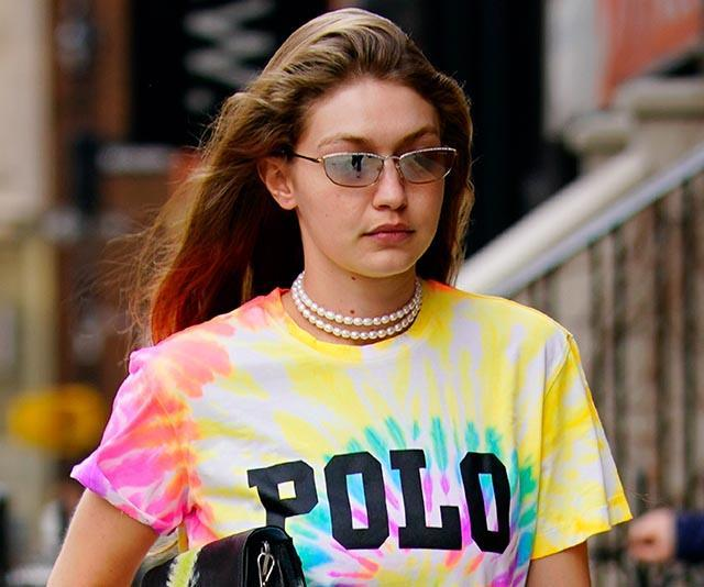 """Gigi Hadid in the ['Samos' sunglasses leash](https://www.eliou-eliou.com/collections/accessories/products/samos-sunglasses-leash