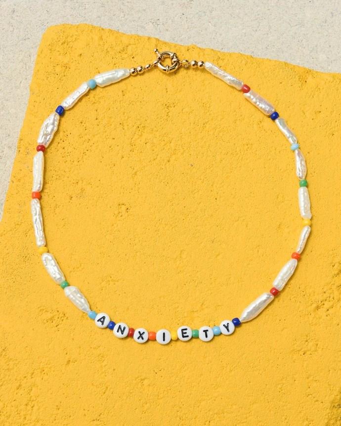 "[""Anxiety"" necklace](https://www.eliou-eliou.com/collections/necklaces/products/anxiety-necklace target=""_blank"" rel=""nofollow"")."