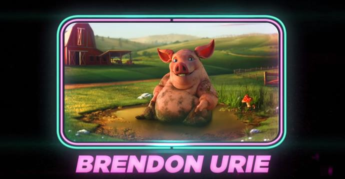 Brendon Urie as a pig