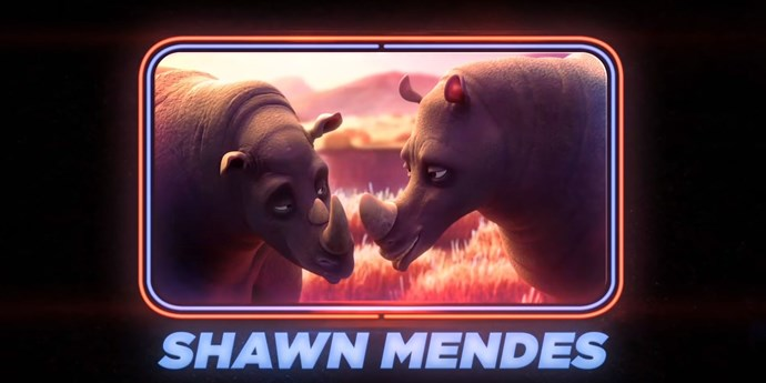 Shawn Mendes as the rhinos