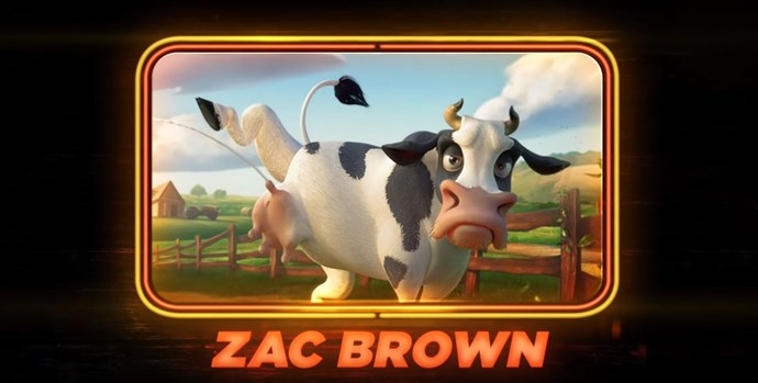 Zac Brown as a cow