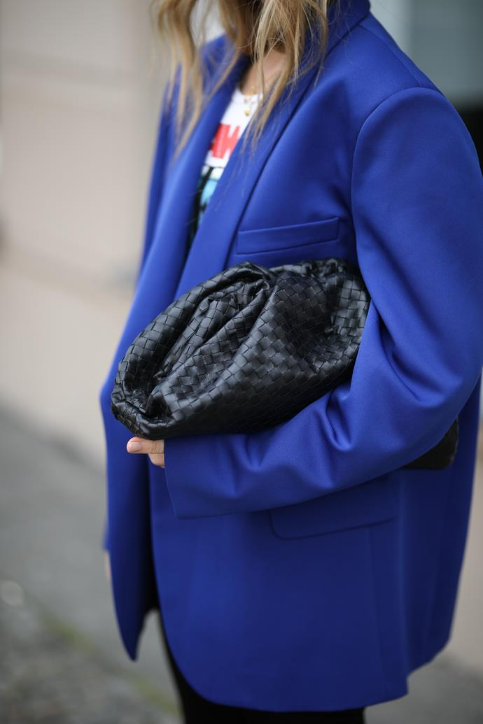 **Swap for: A pillowy clutch** <br><br> Bottega Veneta's sold-out-in-a-heartbeat soft woven clutches will be the unequivocal handbag of the year—while MM6 Maison Margiela's puffy quilted clutch bags were the street style favourite at the AW '19 shows. What they lack in functionality they make up for in good looks and cool factor—we'll have two.
