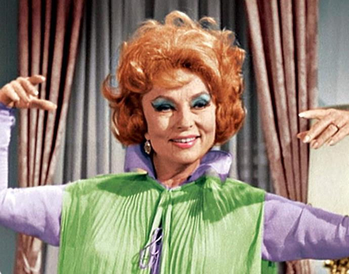 **Endora from** ***Bewitched***<br><br>  *Bewitched's* Endora was easily one of the most fabulous characters to have ever graced the small screen. Forever appearing and disappearing in a puff of smoke and the swirl of a robe, the red-headed witch had quite the flair for theatrics, something she never withheld when she wanted to stir trouble between her daughter and son-in-law.