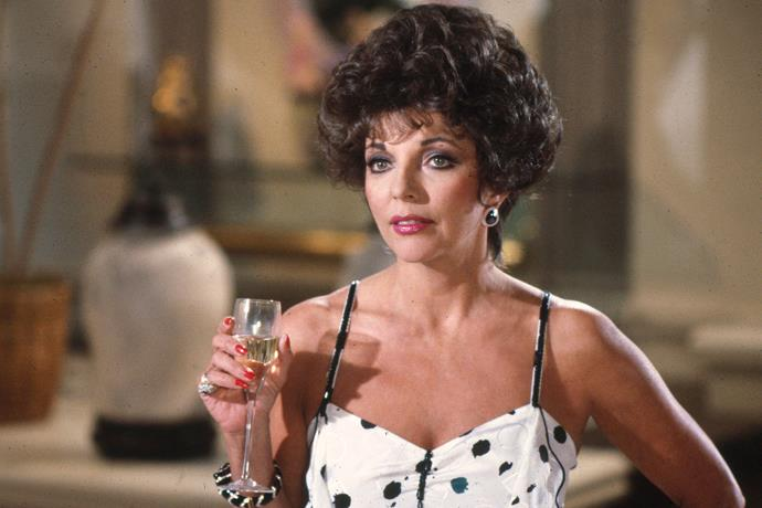 **Alexis Carrington Colby from** ***Dynasty (1981)***<br><br>  Okay, so she's not a 'great' mother in the traditional, nurturing sense of the word, but there's no denying that Alexis Carrington Colby was one dynamic, unstoppable dame. While the current reboot of *Dynasty* may feature Nicolette Sheridan in the role of Alexis Carrington Colby, it owes much of Alexis' sass and style to the OG, Joan Collins.