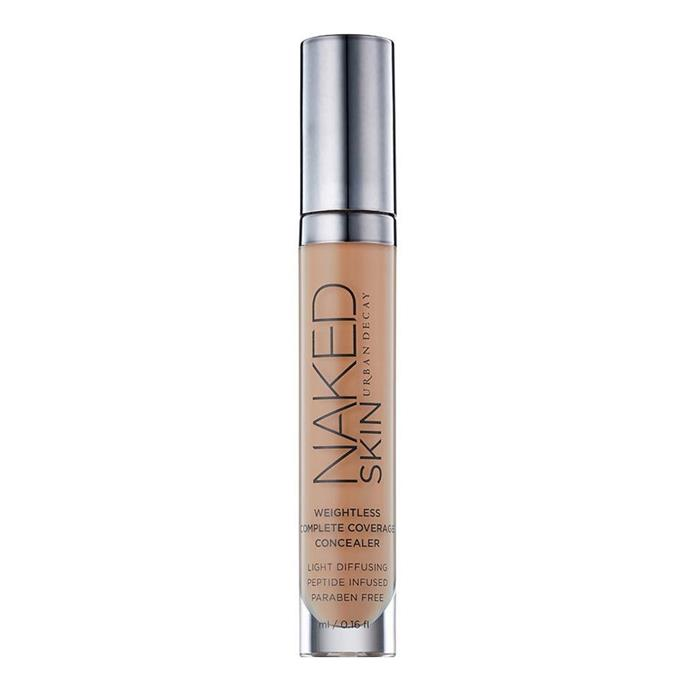 "**Naked Skin Weightless Complete Coverage Concealer by Urban Decay, $46 at [MECCA](https://www.mecca.com.au/urban-decay/naked-skin-weightless-complete-coverage-concealer/V-021165.html|target=""_blank""