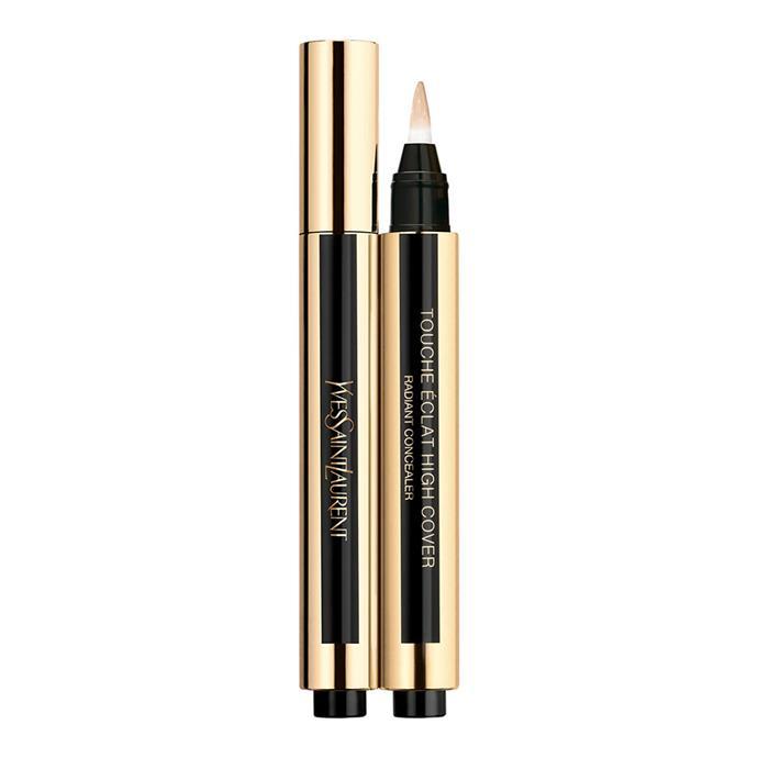"**Touche Éclat High Cover Pen, $70 at [YSL](https://www.yslbeauty.com.au/makeup/complexion/concealer/touche-eclat-high-cover-pen/WW-50297YSL.html target=""_blank"" rel=""nofollow"")**"