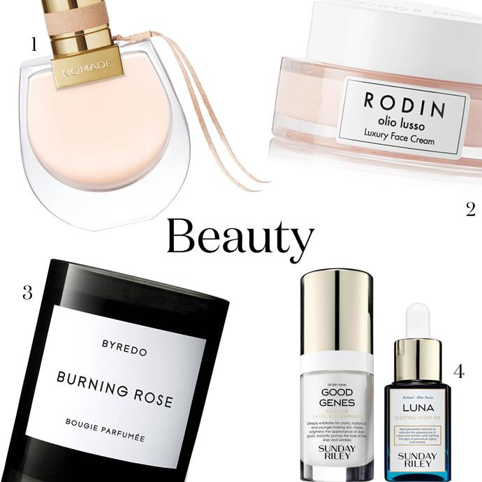"""***Beauty***<br><br> Got a mama who loves the beautiful things in life? An ultra-luxe product will make her think of you every time she uses it—which, if you go with the below, will be all the time.<br><br> 1. A heavenly new perfume, for daily spritzing. Chloé's 'Nomade', $185, [Myer](https://www.myer.com.au/p/chloe-nomade-edp-1