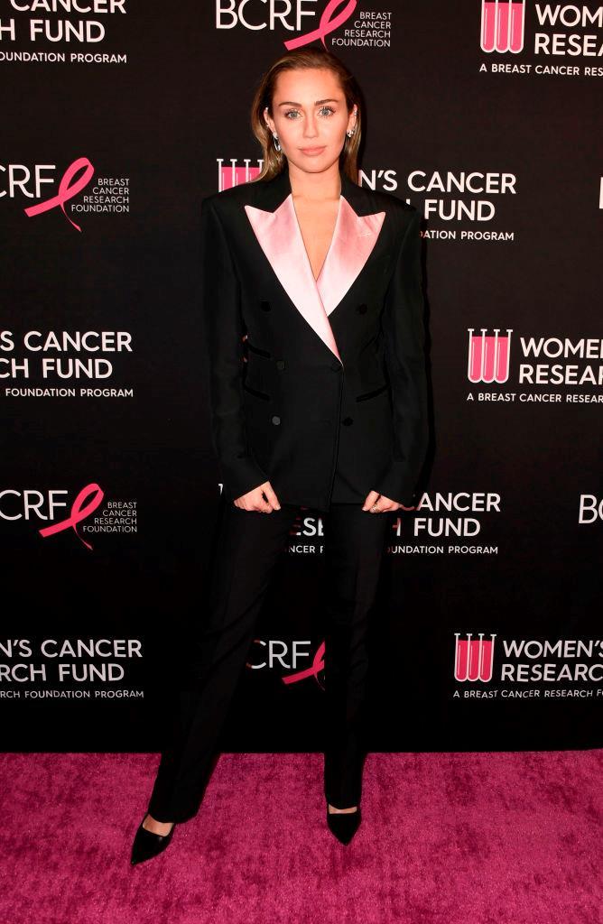 Pink tuxedo.