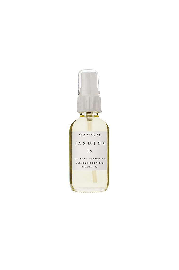 "**Best for relaxation**<br> *Jasmine Body Oil by Herbivore Botanicals, for approximately $40 at [Revolve.com](https://www.revolveclothing.com.au/r/DisplayProduct.jsp?aliasURL=herbivore-botanicals-jasmine-body-oil-2-oz%2Fdp%2FHRBR-WU19&d=F&countrycode=AU&gclid=EAIaIQobChMIzd3hw4aG4gIVVxiPCh1-RQeoEAQYByABEgLdG_D_BwE&product=HRBR-WU19&product=HRBR-WU19|target=""_blank""