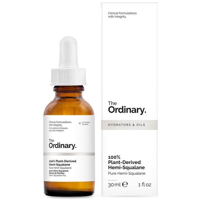 """**Best budget buy**<br> *Plant-Derived Hemi-Squalane by The Ordinary, for approximately $5 at [beautyexpert.com](https://www.beautyexpert.com/the-ordinary-100-plant-derived-hemi-squalane-30ml/12049286.html?affil=thggpsad&switchcurrency=AUD&shippingcountry=AU&thg_ppc_campaign=71700000043843795&adtype=pla&product_id=12049286&&thg_ppc_campaign=71700000043843795&gclid=EAIaIQobChMIg4uIoI6G4gIVWDUrCh2QdA7ZEAQYAyABEgLt2vD_BwE&gclsrc=aw.ds target=""""_blank"""" rel=""""nofollow"""")* <br> This 100% plant-derived blend is a perfect quotidian product, increasing skin hydration, elasticity and suppleness, and we love that it costs just a little more than a soy-latte."""