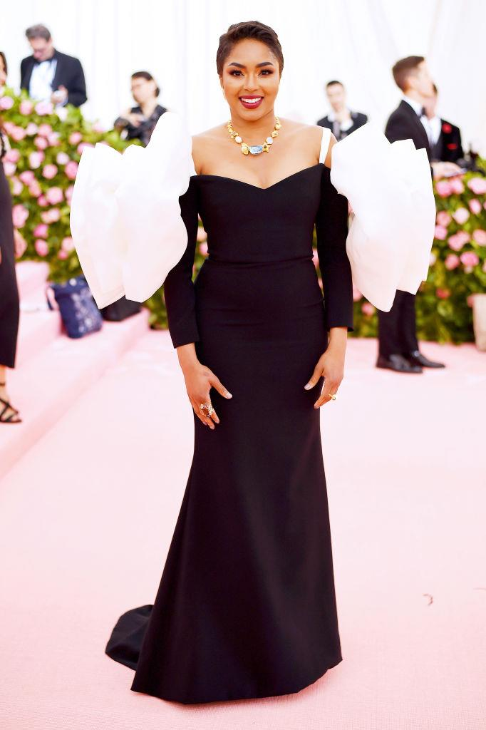 Alicia Quarles in Christian Siriano.