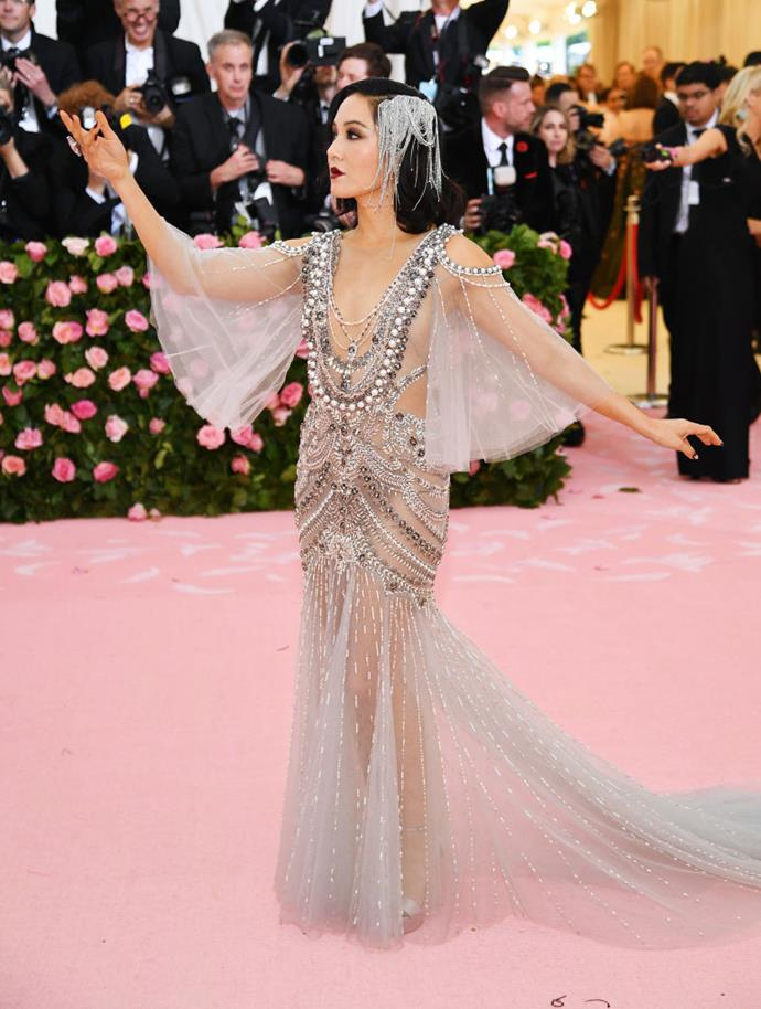 Constance Wu in Marchesa.