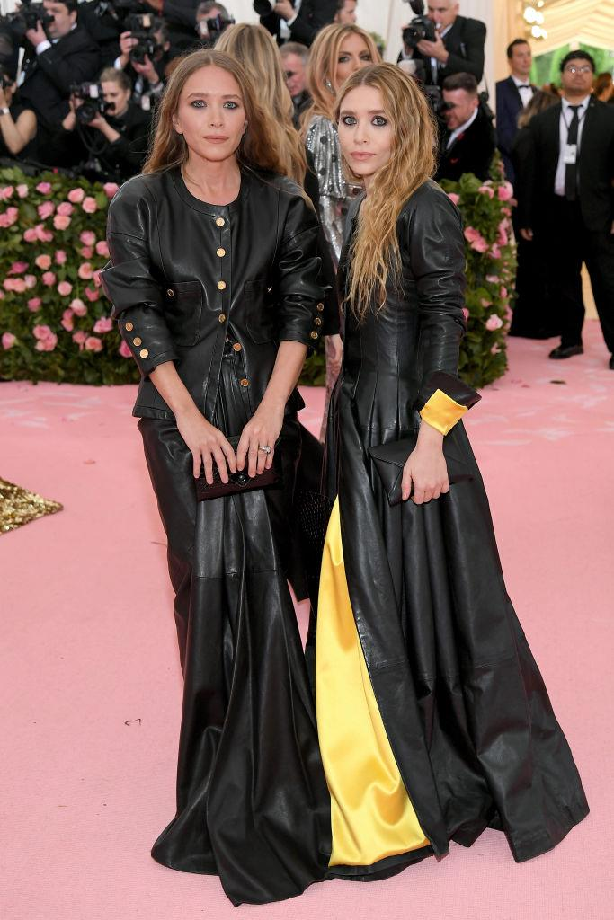 Mary-Kate and Ashley Olsen, both in vintage Chanel.