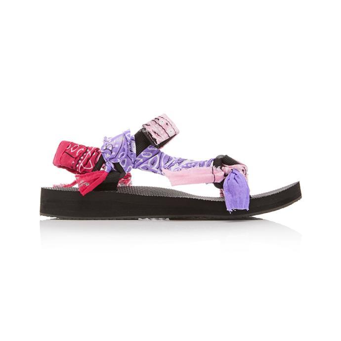 "Sandals by Arizona Love, $260 at [Moda Operandi](https://www.modaoperandi.com/arizona-love-fw19/trekky-sandals?color=pink#zoom target=""_blank"" rel=""nofollow"")."