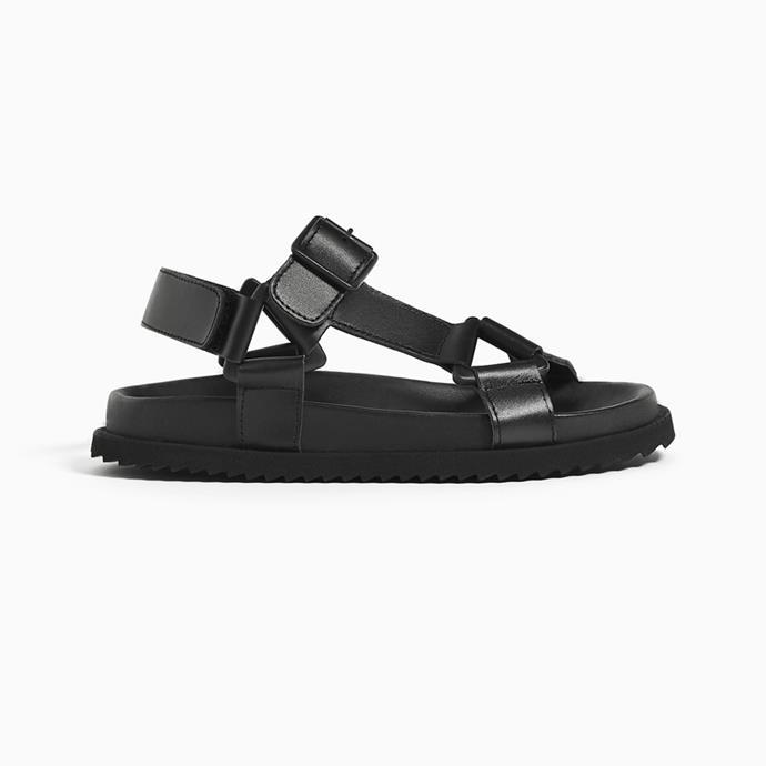 """Sandals, $99.95 at [ZARA](https://www.zara.com/au/en/strappy-leather-sandals-p12694003.html?v1=8934452&v2=1010197 target=""""_blank"""" rel=""""nofollow"""")."""