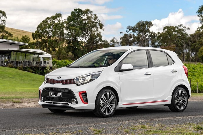 """**Kia Picanto GT** <br><br> When it comes to value, it's hard to ignore the Kia Picanto, which starts at $14,190 drive away. The four-door micro hatch comes armed with cruise control, a reversing camera, rear parking sensors, auto-on headlights, autonomous emergency braking and a bright and shiny touchscreen with Apple CarPlay and Android Auto. Beyond that, it has Kia's seven-year, unlimited distance warranty and fixed-price servicing.  For a few thousand more, at $17,990, the newer, hotter and better-looking Picanto GT takes the range to a sportier space (though the GT is only available in a manual at the moment). Usually """"budget-friendly performance"""" would be considered an automotive oxymoron. However, this hot micro aims to change that.  <br><br> *From $17,990; 1L, 3cyl turbo; 74kW/172Nm; 4.8L/100km (GT variant, as shown)*"""