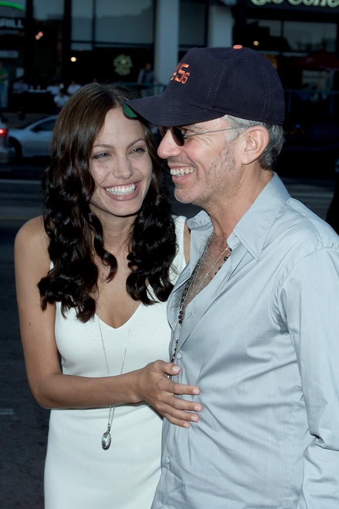 **Angelina Jolie and Billy Bob Thornton** <br><br> Like Gere and Crawford, Jolie and Thornton opted for The Church of the West as the location to exchange their vows in 2000. He wore a trucker hat, she wore jeans, and they separated two years later.