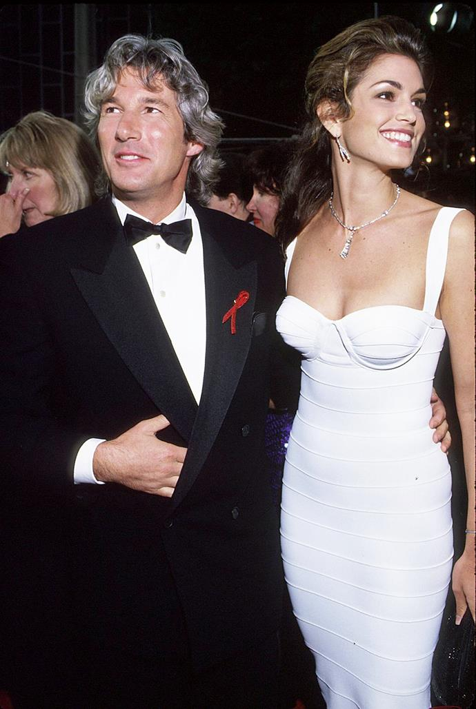 **Richard Gere and Cindy Crawford** <br><br> While they're both now happily married to different people, there was a time these two icons of the 80s and 90s made headlines when they took a private plane to Vegas and got married in Vegas' The Church of the West. Crawford wore a navy suit by Armani and the photographer was fashion legend Herb Ritts. Sadly, however, the couple later divorced in 1995 after four years of marriage.