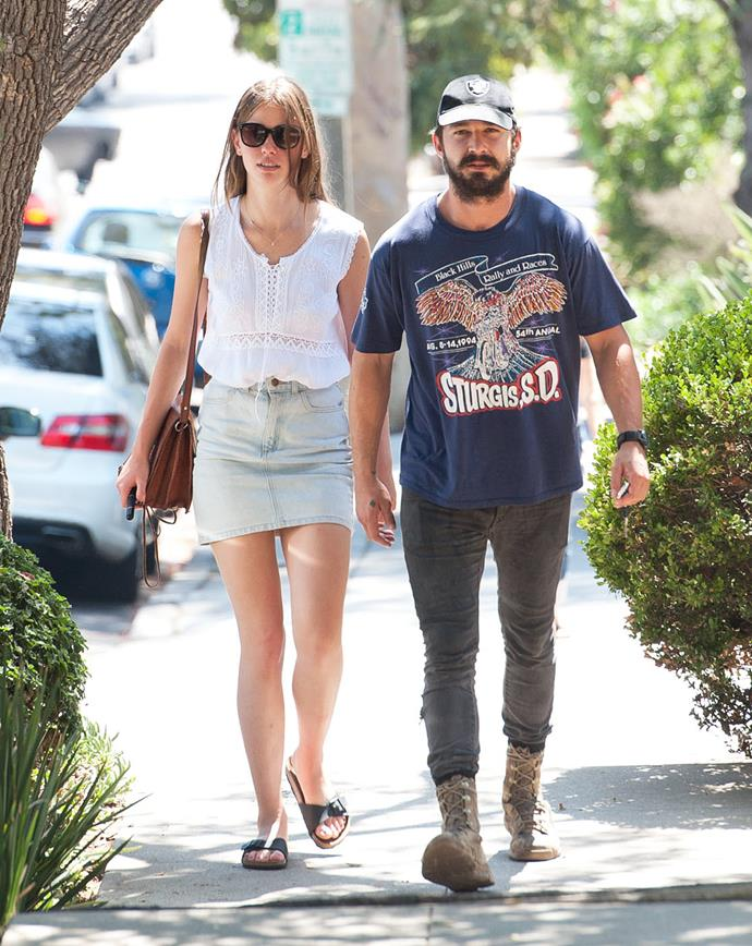 **Mia Goth and Shia LaBeouf** <br><br> Believe it or not, Sophie Turner and Joe Jonas got the whole idea of live-streaming their Vegas nuptials from these two, who did it first in 2016, complete with an Elvis impersonator as the officiant. Sadly, they filed for divorce in 2018 after almost two years of marriage.