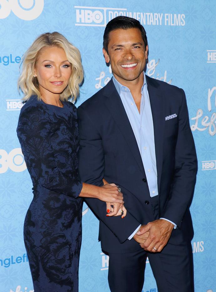 **Kelly Ripa and Mark Consuelos** <br><br> Despite this duo seeming all polished, put-together and predictable (she's a top talk show host in the US, he plays Veronica's dad on *Riverdale*), they bucked expectations by eloping to Vegas in 1996 after a year of dating. Ripa admitted they broke up the day before they tied the knot, but it worked out: they've been married 23 years.